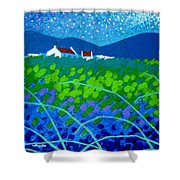 Starry Night In Wicklow Shower Curtain by John  Nolan