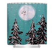 Starry Night Moon  Shower Curtain