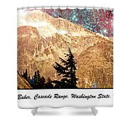 Starry Night Over Mount Baker Shower Curtain