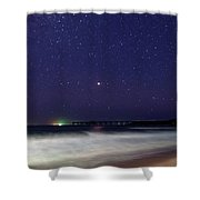 Starry Night Seascape Shower Curtain