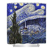 Starry Nights And Serenity  Shower Curtain