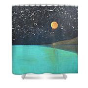 Starry Sky Above The Ocean Shower Curtain