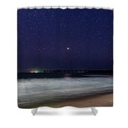 Starry, Starry Night At Catherine Hill Bay Shower Curtain