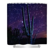 Starry Starry Sonoran Skies  Shower Curtain