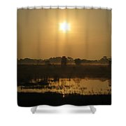 Starry Sunrise Shower Curtain