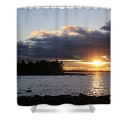 Starry Sunset Shower Curtain