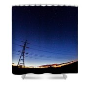 Starry Sunset Shower Curtain