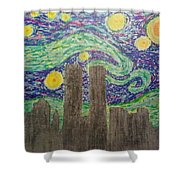 Starry Towers Shower Curtain