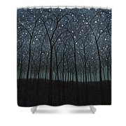 Starry Trees Shower Curtain
