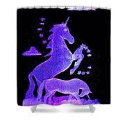 Starry Unicorns Shower Curtain