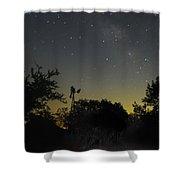 Starry Windmill Shower Curtain