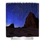 Stars Above The Moon Shower Curtain