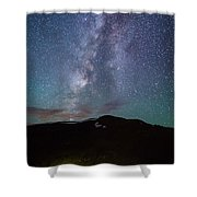 Stars And Car Trails Shower Curtain