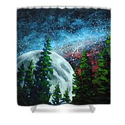 Stars And Moon Shower Curtain