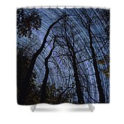 Stars And Silhouettes Shower Curtain