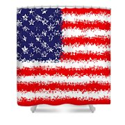 Stars And Stars And Stripes Shower Curtain