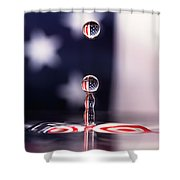 Stars And Stripes And H20 Shower Curtain