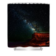 Stars And The Mountain Shower Curtain