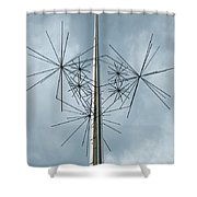 Stars At Air And Space Shower Curtain