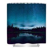 Stars Over Lake Vermilion Shower Curtain