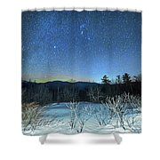 Stars Over The New Hampshire White Mountains Shower Curtain