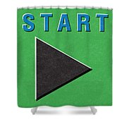 Start Button Shower Curtain