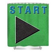 Start Button Shower Curtain