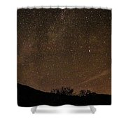 Start Night In Aspen Shower Curtain