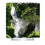 Starvation Creek Falls In September  Shower Curtain