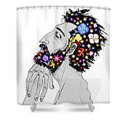 Starving For Peace Shower Curtain