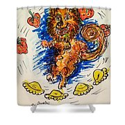 Starwberry Festival Shower Curtain