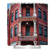 State Capital Entry  Shower Curtain