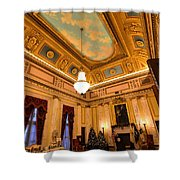 State House Christmas Shower Curtain