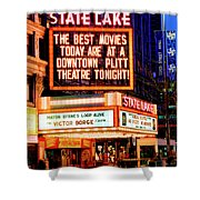 State-lake Theater Shower Curtain