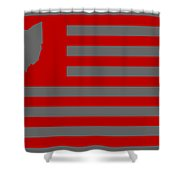 State Of Ohio - American Flag Shower Curtain