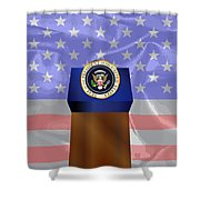 State Of The Union Podium Shower Curtain