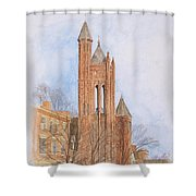 State Street Church Shower Curtain by Dominic White