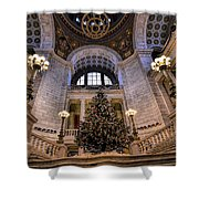 Stately Christmas Tree Shower Curtain
