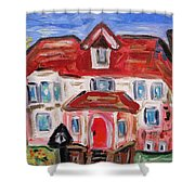 Stately City House Shower Curtain