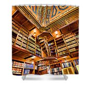 Stately Library Shower Curtain