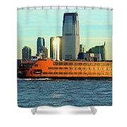 Staten Isalnd Ferry Barberi Shower Curtain