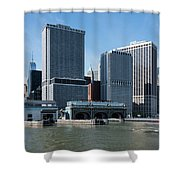 Staten Island Ferry Docks Shower Curtain