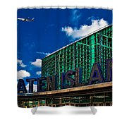 Staten Island Ferry Terminal Shower Curtain