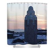 Helsinki Station At Sunrise Shower Curtain