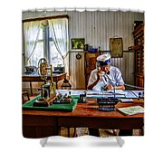 Station Master Mariefred Shower Curtain