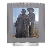 Statuary Dedicated To The American Indian Shower Curtain
