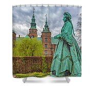 Statue At Rosenborg Castle Shower Curtain