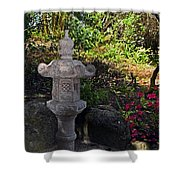 Statue In Shadows Shower Curtain