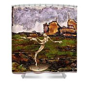Statue Of A Zombie 2 Shower Curtain