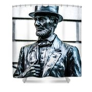 Statue Of Abraham Lincoln #9 Shower Curtain